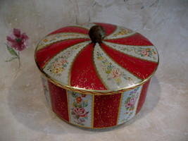 Vintage Horners Candy Tin Confectionery English Sweets Souvenir Flowers  - $19.95