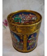Vintage E. Otto Schmidt Lebkuchen Cookie Tin German Medieval Souvenir Ge... - $19.95