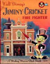 Little Golden Book - Walt Disney's Jiminy Cricket Fire Fighter 1957  - $9.00