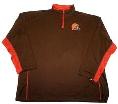 Cleveland Browns Shirt Men's Defending Zone 1/4 Zip Long Sleeve Performance NFL