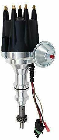 Pro Series R2R Distributor for Ford 351W Windsor, V8 Engine Black Cap