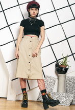 90s vintage reworked button up skirt - $34.42