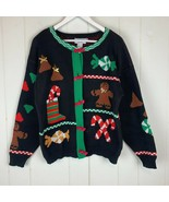 Ugly Christmas Sweater Loft Cardigan Womens Medium Vintage USA Holiday NWOT - $34.60