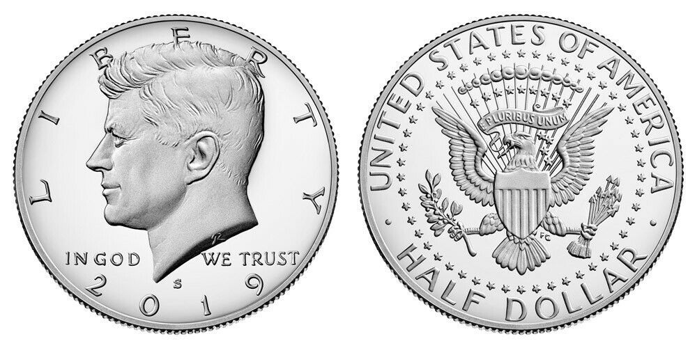 2019 Silver Proof Kennedy Half Dollar CP2598