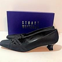Stuart Weitzman Extraneous Black Faille Size 9.5SS Pump Shoe Ribbon MSRP... - $37.35
