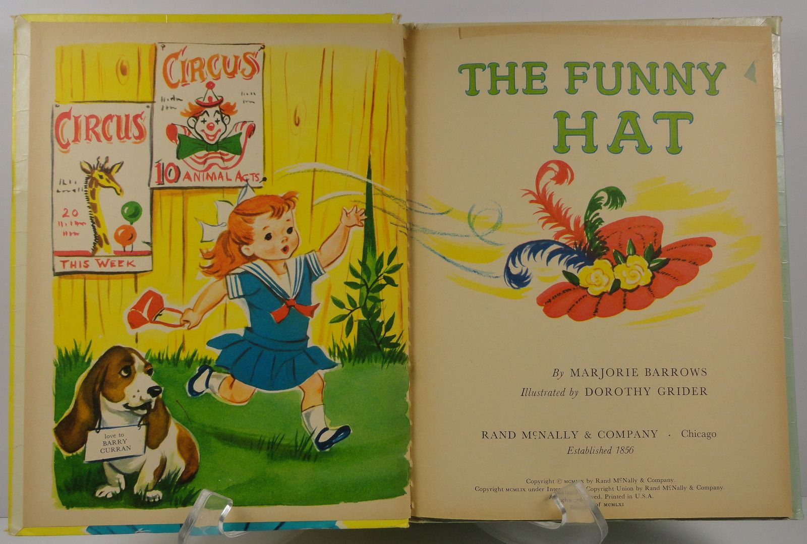 The Funny Hat by Marjorie Barrows Elf Book