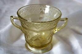 Federal Glass Patrician Amber Golden Glow Open Sugar Bowl - $4.15