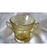 Federal Glass Patrician Amber Golden Glow Open Sugar Bowl - $3.77