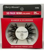 CHERRY BLOSSOM 3D FAUX MINK EYELASHES 25mm GLAMOUR & VOLUMINOUS  #72703 - $1.97