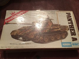 Aurora Esci Prestige Series Panther A Tank Model Kit 1/72 #6204 Complete sealed - $14.80