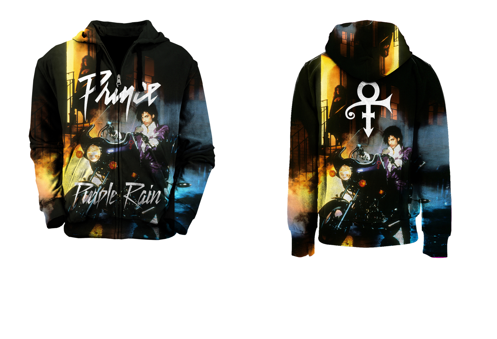 Prince Purple Rain Hoodie Vintage Prince Fan Tour Full Print Hoodie Pullover