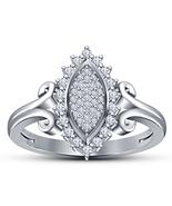 14k White Gold Finish 925 Sterling Solid Silver Womens Diamond Engagemen... - £54.92 GBP