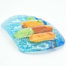 Fused Art Glass Rustic Forest Pinecone Design Soap Dish Handmade in Ecuador image 4