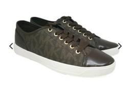 Michael kors signature city sneakers size 7 brown  - $52.25