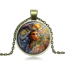 LADY OF NATURE CABOCHON NECKLACE   (8591)   >>  C/S & H AVAILABLE   - $2.75