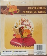 Fall Thanksgiving Harvest Give Thanks Table Centerpiece 10 inch w - $5.49