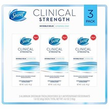 Secret Clinical Strength Invisible Solid Deodorant (1.6 oz., 3 pk.) - $23.43