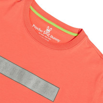Men's Psycho Bunny Short Sleeve Logo Tee Rush Up Reflective Coral T-Shirt image 2