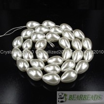 Top Quality Czech Glass Pearl Pear Teardrop Spacer Loose Beads 9mm x 13m... - $2.43
