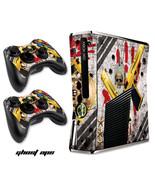 Skin Decal Wrap for Slim Model Black Xbox 360 S Warfare Cod Console - GH... - $9.85