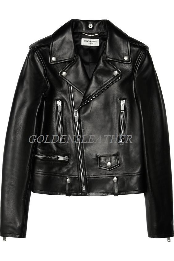 WOMEN BIKER MOTORCYCLE CASUAL SLIM FIT RIDER REAL GENUINE  LEATHER JACKET-A51