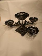 Oil illumination Holder WOW Amazing table lighting Piece 4 lamp unit Ant... - $139.89