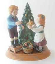 Christmas Display Statue Keeping The Christmas Tradition Figurine Brother Sister - $19.95