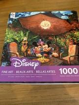 Disney Fine Art Puzzle Mickey Minnie Coleman's Paradise Jigsaw 1000 Piece Ceaco - $12.83