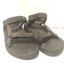 TEVA Torin 6584 Mens Sz 11 US Black Sport Hiking Trail Water Strap Sandals - $26.50
