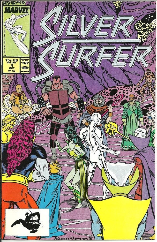 Primary image for The Silver Surfer Comic Book Vol. 3 #4 Marvel 1987 VERY FINE+ NEW UNREAD