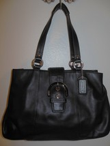 COACH F18751 Soho Black Leather Carryall Shoulder Bag Tote - $59.99
