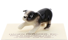 Hagen-Renaker Miniature Ceramic Dog Figurine Boston Terrier Pup image 1