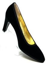 Bruno Magli Designer Luxe Black Velvet Dress Pumps Italy Womens 9 B - $92.43