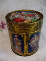 Vintage E. Otto Schmidt Tin German Lebkuchen Germany Medieval Souvenir C... - $19.95