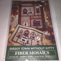 TOWN WITHOUT KITTY  & more  Quilt quilting Patterns Fiber Mosaics - $4.86