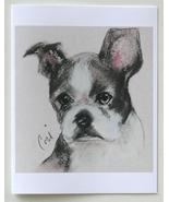 Boston Terrier Dog Art Note Cards - $12.50