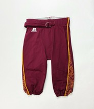 Russell Football Team Game Pant Men's Large Maroon Red Yellow USC Belt - $29.69