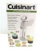 Cuisinart 25 Piece Cookie Press Frosting Set Plus Cupcake Decorator New - $17.81