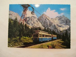 Begegnung der beiden bayer Zugspitzbahn Continental Sized Postcard - $2.49