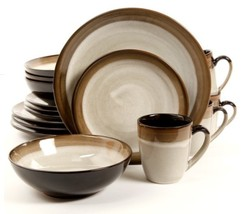 GREAT PRICE Gibson Elite 90602.16RM Couture Bands 16-Piece Dinnerware Se... - $95.99