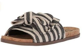 Women's Sandals CIRCUS by Sam Edelman NINETTE Black+Ivory Stripe Canvas ... - $17.99