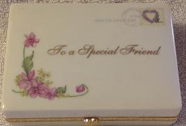 Dear Friend Music Trinket Box 2005 Ardleigh Elliott Porcelain - $19.75