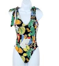 J Crew Shoulder-Tie One-Piece Swimsuit Bathing Suit G6640 Post Card Print 0 - $45.99