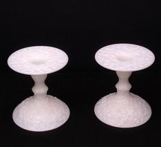 Westmoreland Milk Glass Bramble & Maple Leaf Candle Stick Holders - $34.95