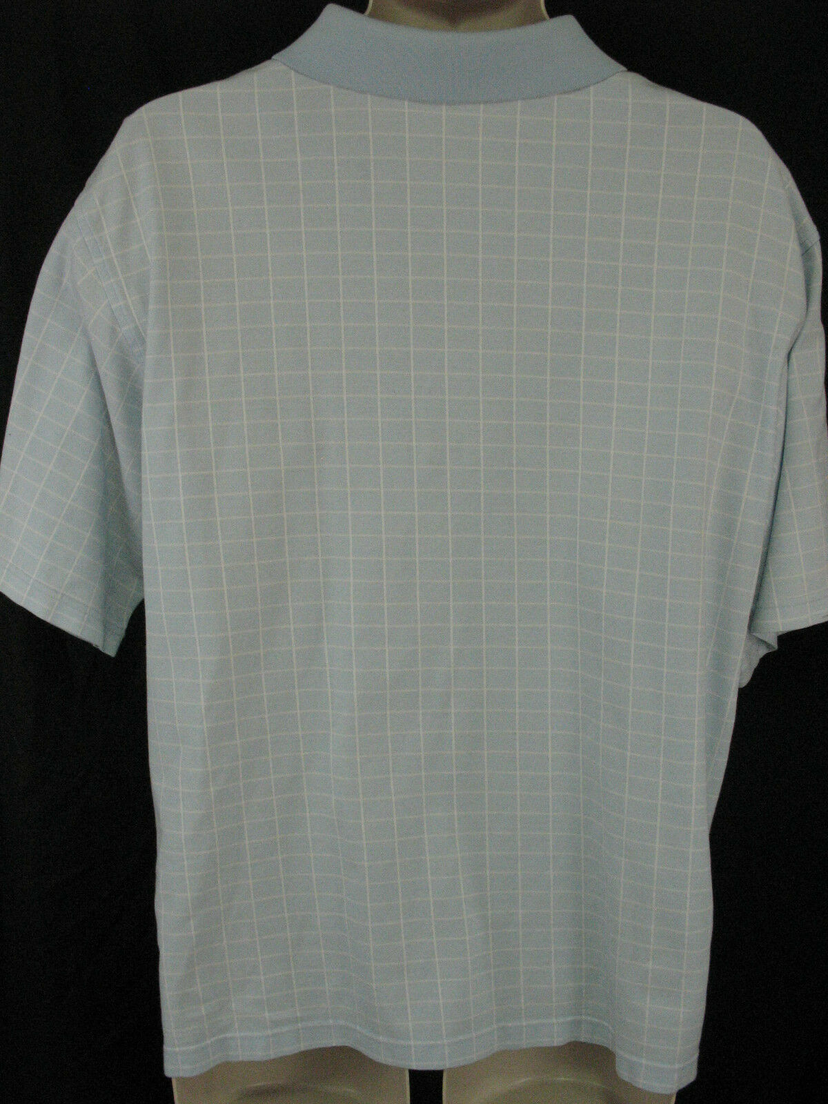 Peter Millar Mens Large Blue Window Pane Cotton Polo Shirt Short Sleeve image 5