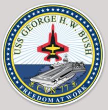 US Navy USS George Bush CVN-77 sticker - $9.89
