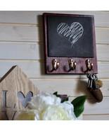 Coat Rack Wall Mount, Keyholder, Memo Board, Housewarming, Apartment Dec... - $25.49