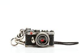 Miniature Camera Charm Range Finder Type Antique Silver with Swarovski M... - $30.42