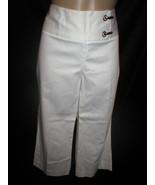 Sharagano White cropped capri pants 10 NEW - $34.95