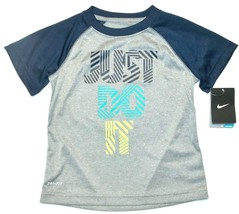 Nike Boys Dri-Fit Gray T-Shirt Just Do It Size 4 NWT - $17.45